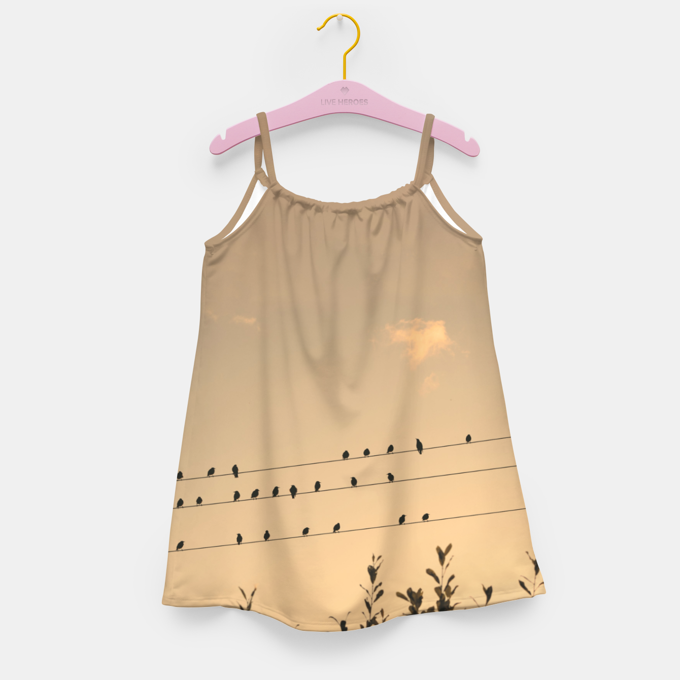 Foto BIrds on wires Girl's dress - Live Heroes