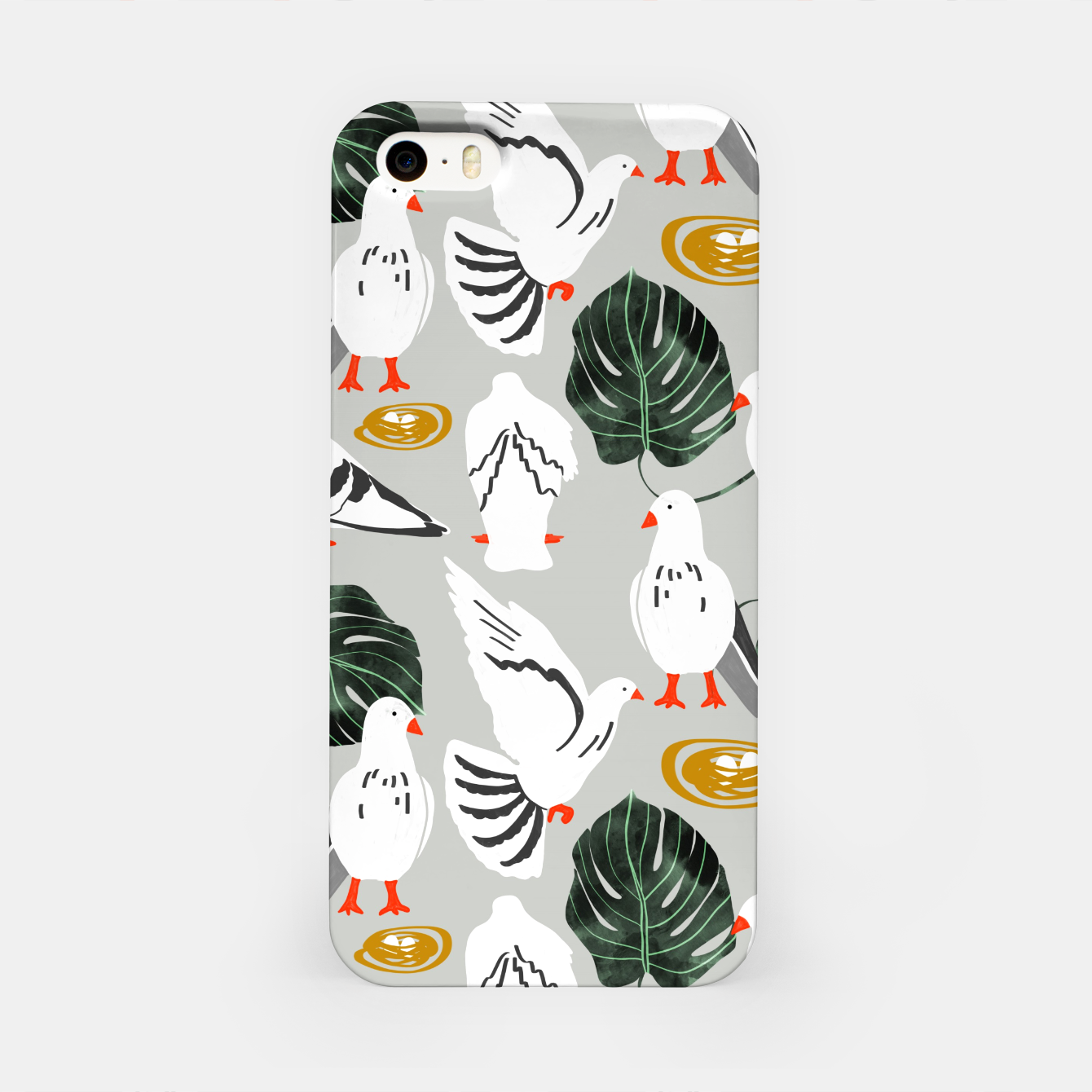Image of White Pigeons iPhone Case - Live Heroes