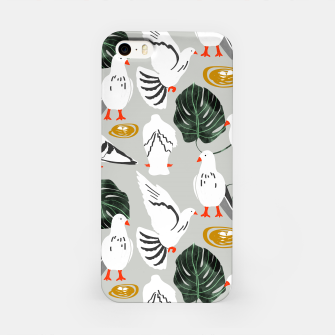 White Pigeons iPhone Case thumbnail image