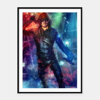 Thumbnail image of Night Hero Framed poster, Live Heroes