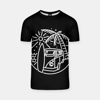 Thumbnail image of Van, Surf, and Beach T-shirt, Live Heroes