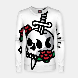 Thumbnail image of Death Flower Tattoo Women sweater, Live Heroes