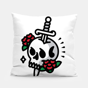 Thumbnail image of Death Flower Tattoo Pillow, Live Heroes