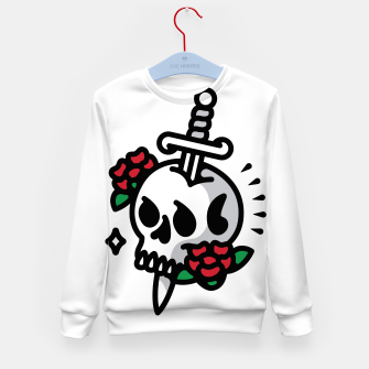 Thumbnail image of Death Flower Tattoo Kid's sweater, Live Heroes