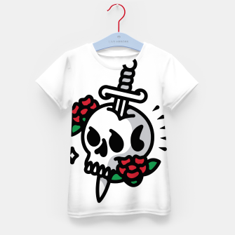 Thumbnail image of Death Flower Tattoo Kid's t-shirt, Live Heroes