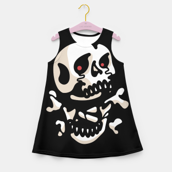 Miniatur Crossbones Girl's summer dress, Live Heroes