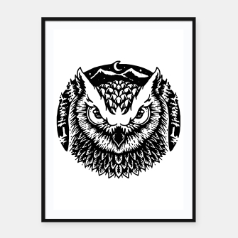 Thumbnail image of Owly Framed poster, Live Heroes