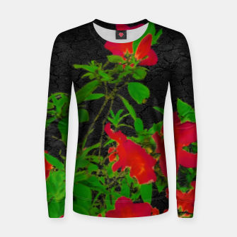 Miniaturka Dark Pop Art Floral Poster Women sweater, Live Heroes