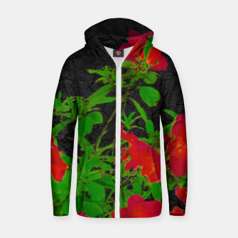 Miniaturka Dark Pop Art Floral Poster Zip up hoodie, Live Heroes