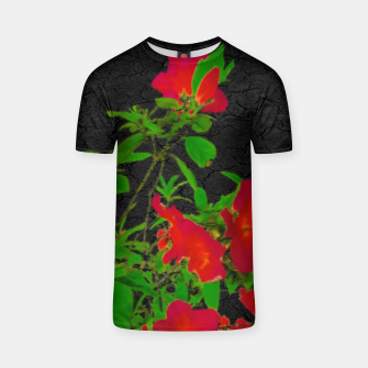 Thumbnail image of Dark Pop Art Floral Poster T-shirt, Live Heroes