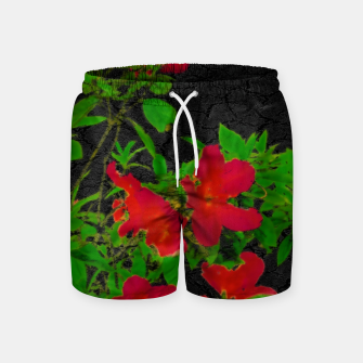 Miniaturka Dark Pop Art Floral Poster Swim Shorts, Live Heroes