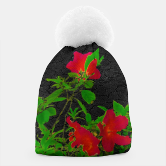 Thumbnail image of Dark Pop Art Floral Poster Beanie, Live Heroes