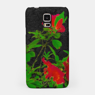 Thumbnail image of Dark Pop Art Floral Poster Samsung Case, Live Heroes