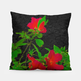 Miniaturka Dark Pop Art Floral Poster Pillow, Live Heroes