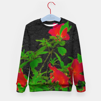 Miniaturka Dark Pop Art Floral Poster Kid's sweater, Live Heroes