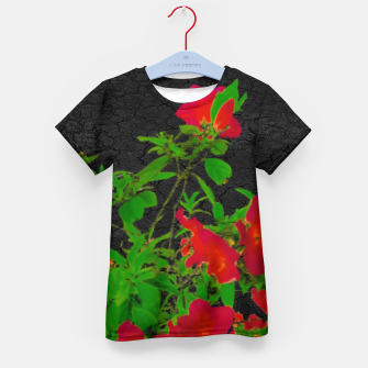 Miniatur Dark Pop Art Floral Poster Kid's t-shirt, Live Heroes