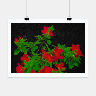 Thumbnail image of Dark Pop Art Floral Poster Poster, Live Heroes