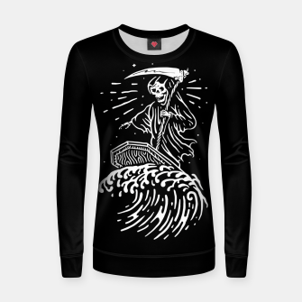 Thumbnail image of Grim Surfer Women sweater, Live Heroes