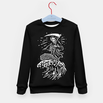 Thumbnail image of Grim Surfer Kid's sweater, Live Heroes