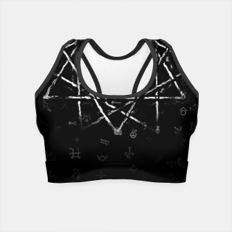 Thumbnail image of dark cat Crop Top, Live Heroes