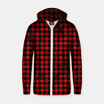 Thumbnail image of Diamond Pattern Whimsical Hq Zip up hoodie, Live Heroes