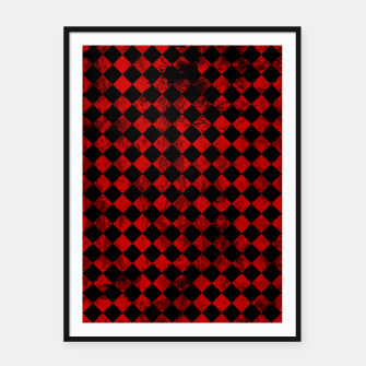 Thumbnail image of Diamond Pattern Whimsical Hq Framed poster, Live Heroes