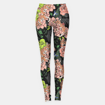 Thumbnail image of Baby leopard at night Leggings, Live Heroes