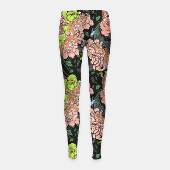 Thumbnail image of Baby leopard at night Leggings para niña, Live Heroes
