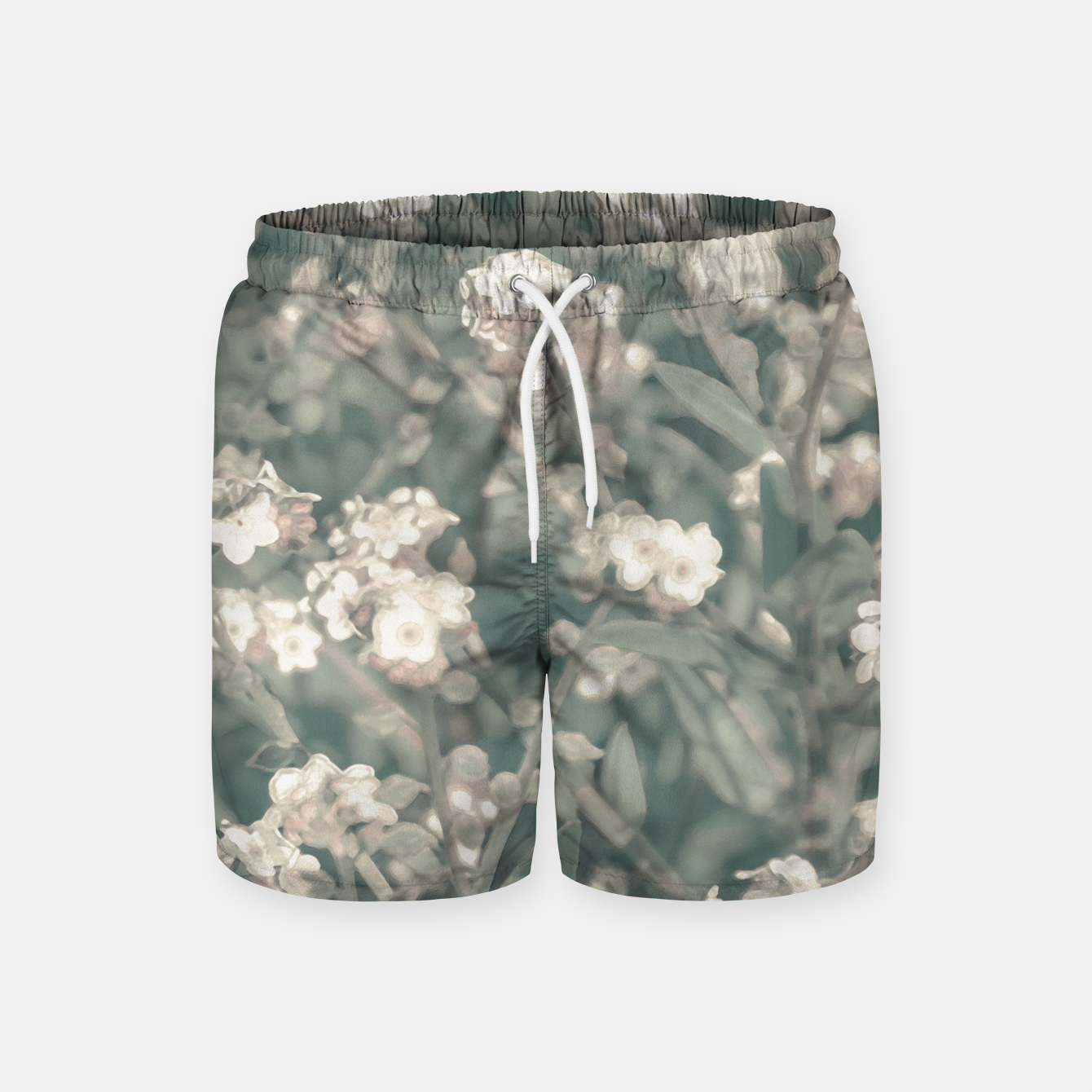 Image of Beauty Floral Scene Photo Swim Shorts - Live Heroes