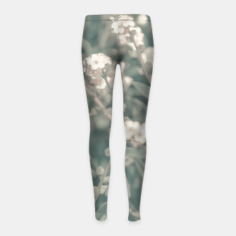 Thumbnail image of Beauty Floral Scene Photo Girl's leggings, Live Heroes