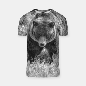 Thumbnail image of Alaskan Grizzly Bear - Black and White T-shirt, Live Heroes