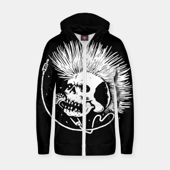 Thumbnail image of Skull Punk Zip up hoodie, Live Heroes