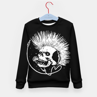 Thumbnail image of Skull Punk Kid's sweater, Live Heroes