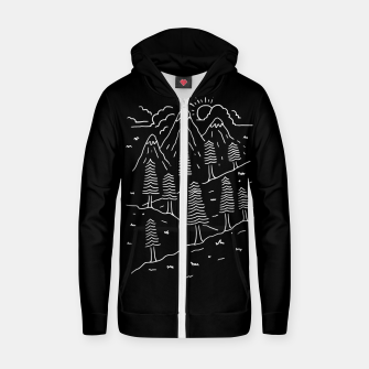 Miniatur Hiking Trails Zip up hoodie, Live Heroes