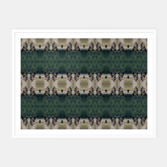 Thumbnail image of Llama Portrait 1 Duo Pattern Framed poster, Live Heroes