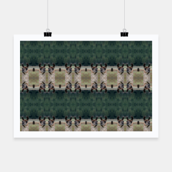 Thumbnail image of Llama Portrait 1 Duo Pattern Poster, Live Heroes
