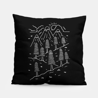 Miniatur Hiking Trails Pillow, Live Heroes