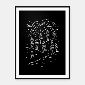 Miniatur Hiking Trails Framed poster, Live Heroes
