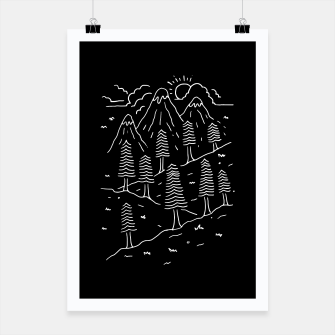 Miniature de image de Hiking Trails Poster, Live Heroes