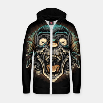 Scary Clown Zip up hoodie Bild der Miniatur
