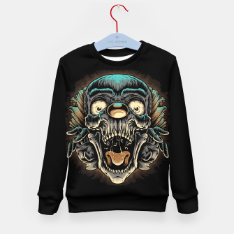 Scary Clown Kid's sweater Bild der Miniatur