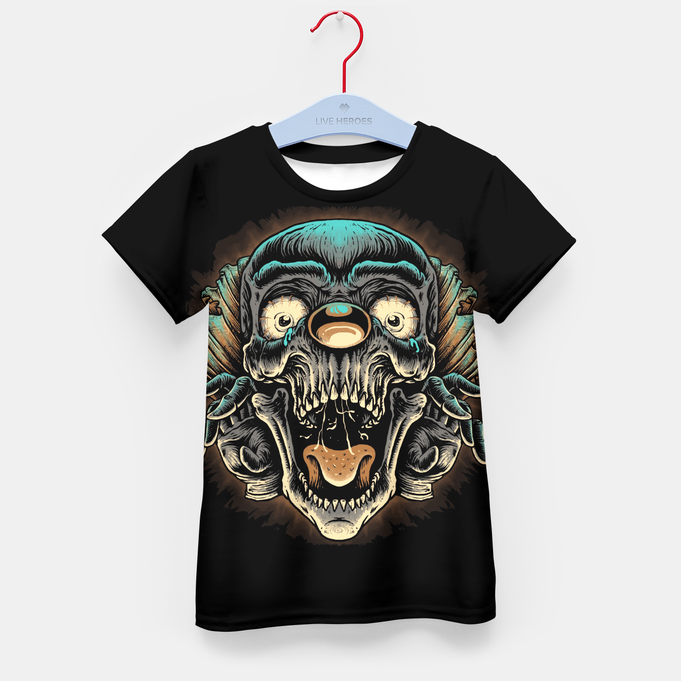 Foto Scary Clown Kid's t-shirt - Live Heroes