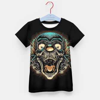 Scary Clown Kid's t-shirt Bild der Miniatur