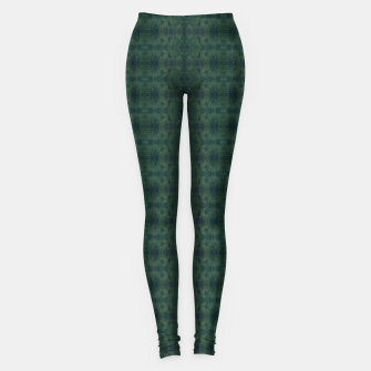 Thumbnail image of Hunter Green Pattern for Llama Portrait  Leggings, Live Heroes