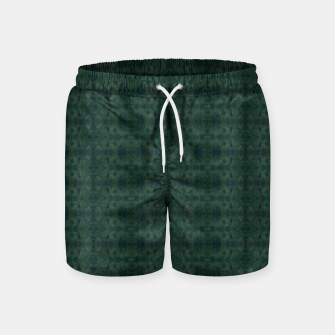 Thumbnail image of Hunter Green Pattern for Llama Portrait  Swim Shorts, Live Heroes