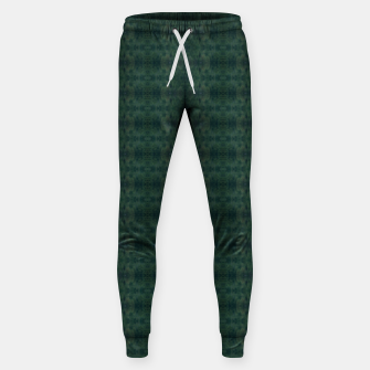 Thumbnail image of Hunter Green Pattern for Llama Portrait  Sweatpants, Live Heroes
