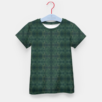 Thumbnail image of Hunter Green Pattern for Llama Portrait  Kid's t-shirt, Live Heroes