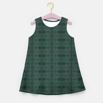 Thumbnail image of Hunter Green Pattern for Llama Portrait  Girl's summer dress, Live Heroes
