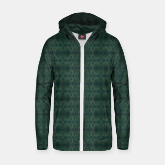 Thumbnail image of Hunter Green Pattern for Llama Portrait  Zip up hoodie, Live Heroes