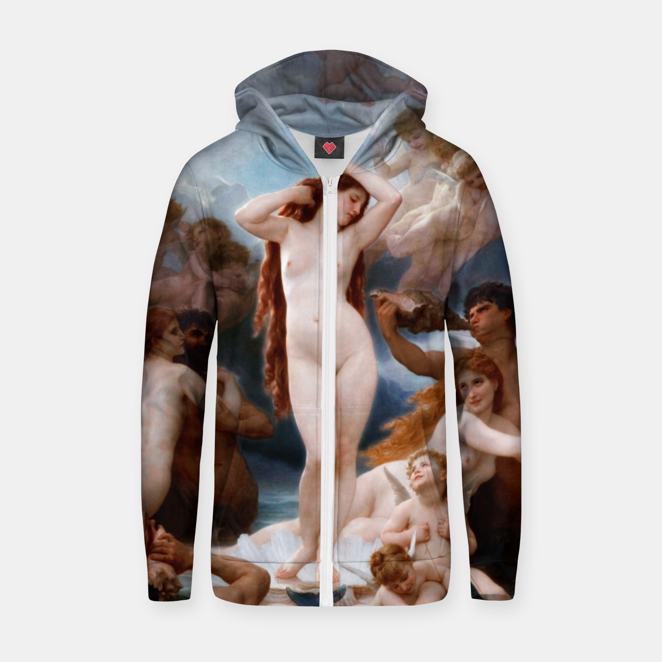 Image of The Birth Of Venus by William-Adolphe Bouguereau Zip up hoodie - Live Heroes
